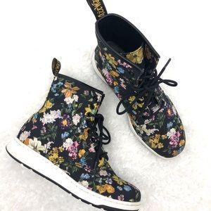Dr Martens Newton DF Floral Canvas Lace Up Boots